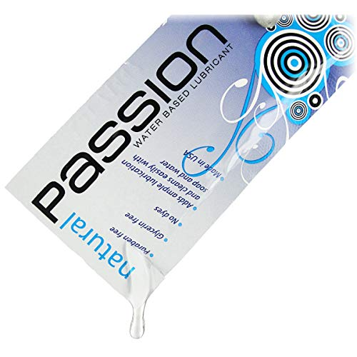 Singles Personal Lubricants Lubricants (Passion Lubes Passion Natural Water-Based Lubricant (.25-Ounce Single-Use Pouch))