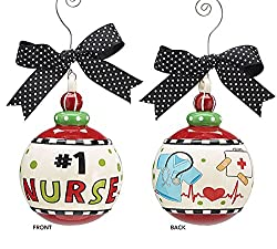 #1 Nurse Christmas Tree Ornament