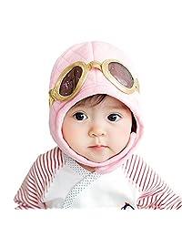 Boys Girls Kids Toddlers Winter Warm Pilot Cap Beanie Ear Flap Cute Baby Hat