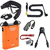 Fomito Godox PB960 Portable Extended Flash Power Battery Pack Kit Dual Output for Canon 600EX, 580EX II, 580EX, 550EX, 540EZ, 430EZ, for Yongnuo Flashes,for AD600 AD360II AD180 TT685C/N/S, for Mobile phone Orange