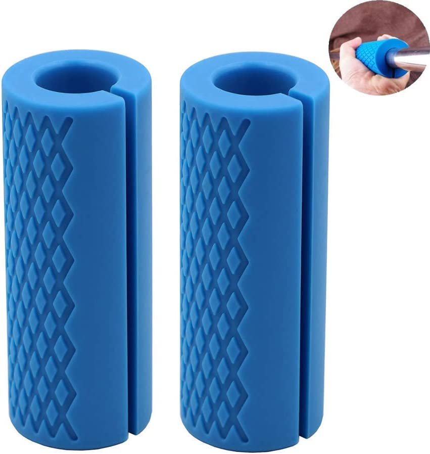 IADU Weightlifting Thick Barbell Bar Grips-Fat Grips Alpha Handles Stress Relieve Pair Dumbbell Hand Protector Pull Up Tape Arm Blaster Adapter for Powerlifting Rack Ergonomic(Blue). : Sports & Outdoors