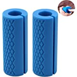 IADU Barbell Grips-Thick Bar Grips for Weightlifting 1 inch-Dumbbell Handles Stress Relieve Barbell Grip Hand Protector Pull