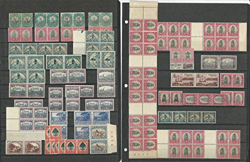 South Africa Stamp Collection, Mint Lot of Pairs & Blocks, Huge Cat Value