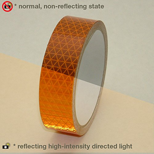 - Oralite (Reflexite) V92-DB-COLORS Microprismatic Conspicuity Tape: 1 in. x 15 ft. (Orange)