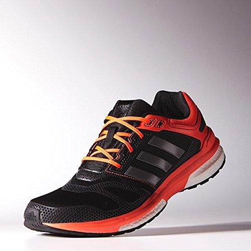 adidas Revenge Boost 2 Men's Running Shoes, Black/Red, US9.5