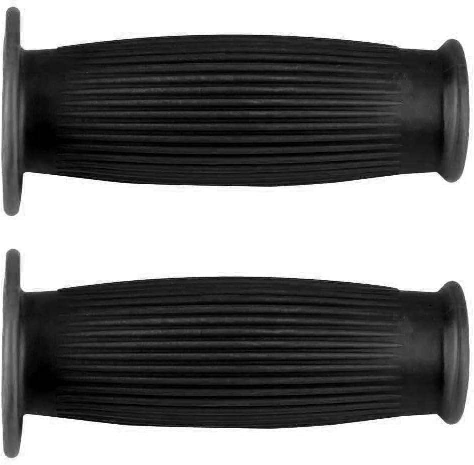 paire de poign/ées de guidon moto Vintage TPU de 1 pouce Poign/ée de poign/ée Suuonee 25 mm blanc
