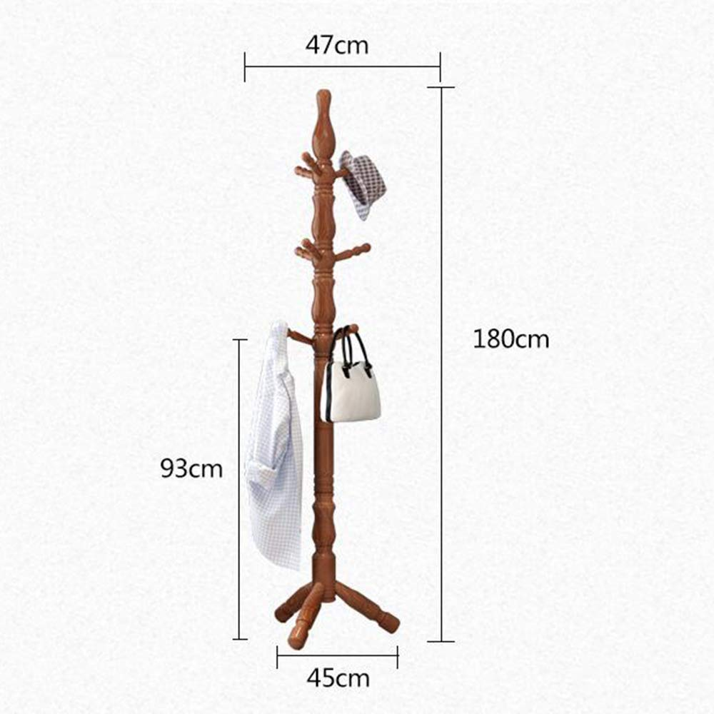 Amazon.com: MEIDUO Wooden Coat Rack Free Standing with 9 ...