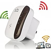 iMeshbean® Wifi Repeater 300M Range Extender Wireless Dual Band Network Amplifier Mini AP Router Signal Booster Wireless-N 2.4GHz IEEE802.11N/G/B with Integrated Antennas RJ45 Port WPS Protection