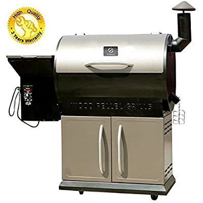 Z Grills Pellet Grill Smoker BBQ with Digital Control, Wood Pellet Smoker, Barbecue Cooking for Grill, Smoker, Braise ,Roast ,Braise and BBQ