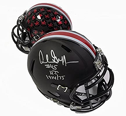 98b9dc019a4 Archie Griffin Autographed Black Speed Ohio State Buckeyes Mini Helmet - Certified Authentic at Amazon s Sports Collectibles Store
