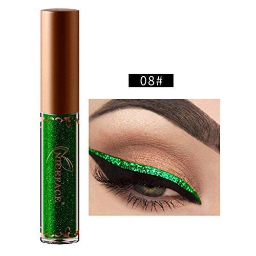 (Kanzd Beauty Metallic Shiny Smoky Eyes Eyeshadow Glitter Shimmering Eye Shadow Long Lasting Waterproof Glitter Liquid Eyeliner (H) )
