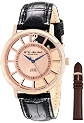 Stuhrling Original Men's 388S.334514 Classic Winchester Swiss Quartz Rose-Tone Watch Set