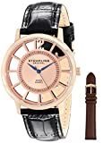 Stuhrling Original Men's 388S.334514 Classic Winchester Swiss Quartz Rose-Tone Watch Set