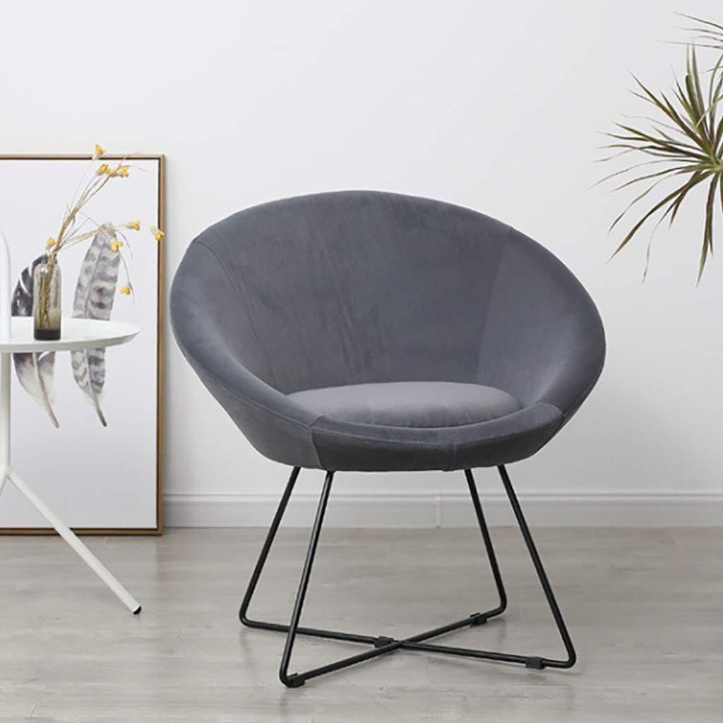 ZXL Modern bekväm stoppad accentstol stolar enkel soffa med metallram perfekt för vardagsrum sovrum sovsalar arm stol samtida (färg: Rosa) grå