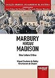 capa de Marbury Versus Madison. Uma Leitura Crítica