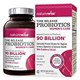 NatureWise Probiotics for Women | Time-Release Probiotic Supplement, Comparable to 90 Billion CFU | With Cranberry & D Mannose for Vaginal, Urinary, Digestive and Immune Health (Packaging May Vary)