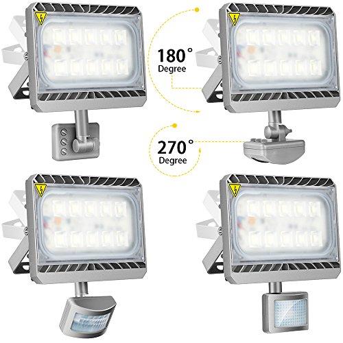 Outdoor Security Lights That Plug In: Stasun LED Security Light, 50W Motion Sensor Lights