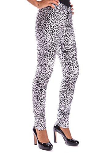 nero Jeans Bianco Donna Cotone Saint Mcbi264003o Laurent OqUpPp