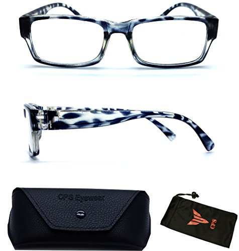 (#WhtLep) White Leopard Animal Pattern Designer Large Frame Trendy Readers Reading Glasses ( Strength : +1.50 - Print Glasses Leopard