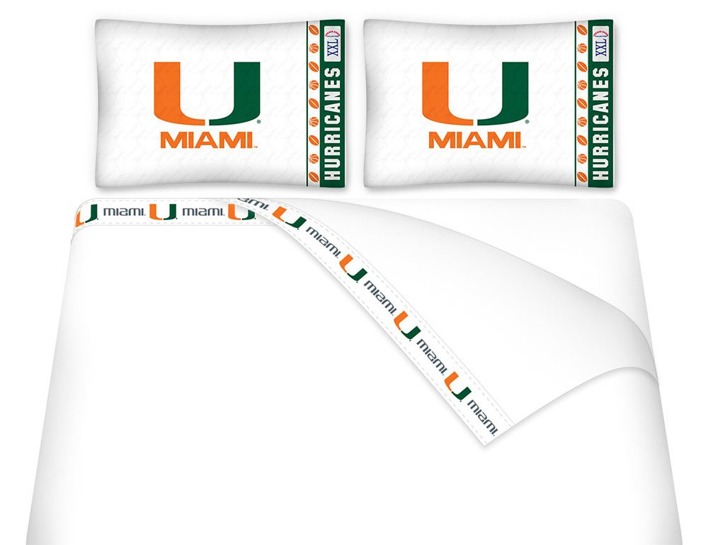 NCAA Miami Hurricanes - 5pc BED IN A BAG - Queen Bedding Set by Store51 (Image #1)