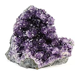 Crystal Allies Specimens: Natural Amethyst Quartz Crystal Cluster From Uruguay W Natural Edges - 2lbs To 3lbs