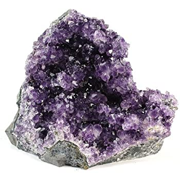 Crystal Allies Specimens: Natural Amethyst Quartz Crystal Cluster from Uruguay w/Natural Edges - 2lbs to 3lbs