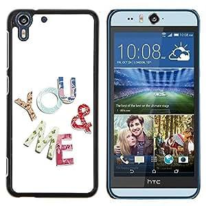 Dragon Case - FOR HTC Desire EYE M910x - you and me - Caja protectora de pl??stico duro de la cubierta Dise?¡Ào Slim Fit