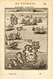 CYCLADES Sira (Syros/Siros) Paros Antiparos Greek islands Aegean MALLET - 1683 - old map - antique map - vintage map - printed maps of Greece