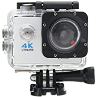 Rambly Waterproof 4K Wifi HD 1080P Ultra Sports Action Camera DVR Cam Camcorder (White)