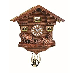 Trenkle Kuckulino Black Forest Clock Swiss House with Quartz Movement and Cuckoo Chime TU 2031 PQ