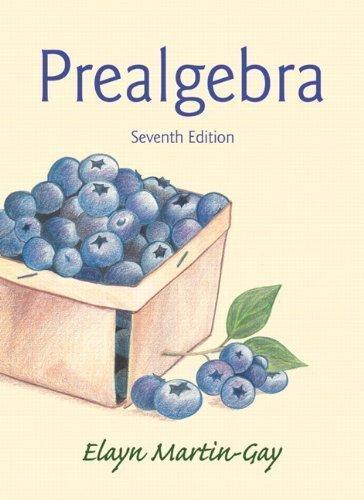 Prealgebra (7th Edition) 7th edition by Martin-Gay, Elayn (2014) Paperback