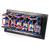 Rupse 6 Gang Aluminium LED Rocker & Circuit
