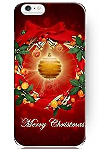 """ZLXUSA(TM) New Personalized Hard Golden Christmas Ball for Apple 6 Plus (5.5"""") iPhone Case Holiday Gift"""