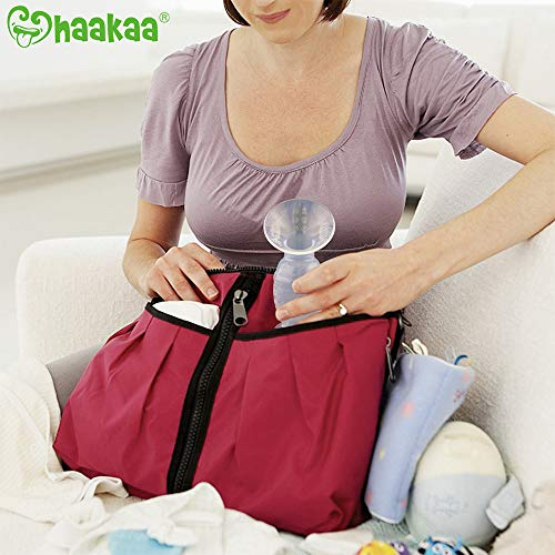 Haakaa Manual Breast Pump Silicone Breastpump Breastfeeding Pump Milk Saver Milk Pump 100% Food Grade Silicone BPA Free (3oz/90ml, 2019 Style)