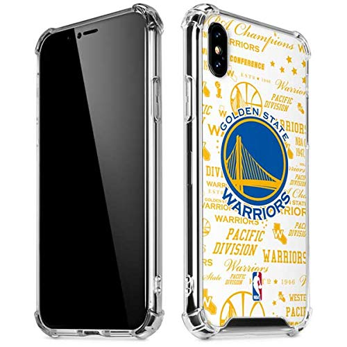 (Skinit Golden State Warriors Historic Blast iPhone XR Clear Case - Officially Licensed NBA Phone Case Clear - Transparent iPhone XR Cover)