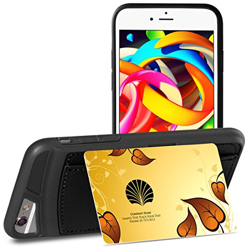 iPhone 6s Case, SAMONPOW Durable Faux Leather Ultra Slim iPhone 6s Wallet Case with Credit Cards Holders Carrying Case Protective Shell for iPhone 6 6s 4.7 inch - Black