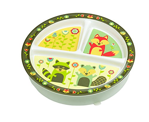 Sugarbooger Divided Suction Plate, What Did the Fox (Sugar Booger Divided Suction Plate)