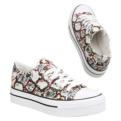 Ital-Design - zapatos de tacón Mujer Varios Colores - Rot Multi
