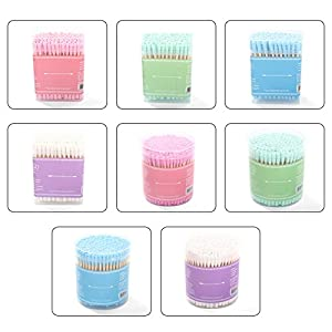 WMFL Bamboo Cotton Buds – 200Pcs Double Head Cotton Swab Cotton Buds, Medical Swabs Ear Cleaning Cosmetic Tool Makeup…