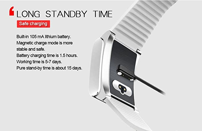 Koly pulsera reloj deportivo, X9 Pro HR Bluetooth 4.0 coloridos LED reloj de pulsera inteligente (Blanco): Amazon.es: Relojes