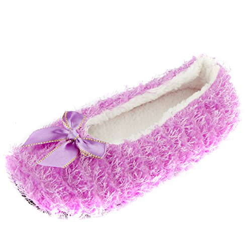 Women's Leisureland Solid Color Purple Cozy Slippers Fashion 7n0wqZxF