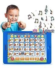 Boxiki kids Tablet Pad de Aprendizaje en inglés Infantil y Divertida con 6 Juegos Temprano para Aprendizaje de Números, Aprender el ABC, Deletreo, Juego ¿Dónde está?