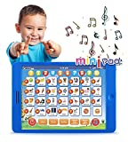 Boxiki kids Learning Pad Fun Kids Tablet with 6 Toddler Learning Games Early Child Development Toy for Number Learning, Learning ABCs, Spelling, 'Where is?' Game, Melodies. Educational Toy
