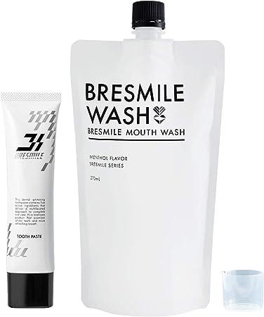 Amazon | 【医薬部外品】 ブレスマイル(BRESMILE) ブレスマイルウォッシュ 1袋 & ブレスマイルクリア 1本 マウスウォッシュ  薬用歯みがき粉 | ブレスマイル(BRESMILE) | ホワイトニング 通販