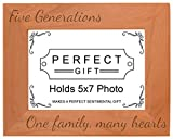 Cheap Gifts For All By Rachel Olevia Five Generations One Family Many Hearts Natural Wood Engraved 5×7 Landscape Picture Frame Wood