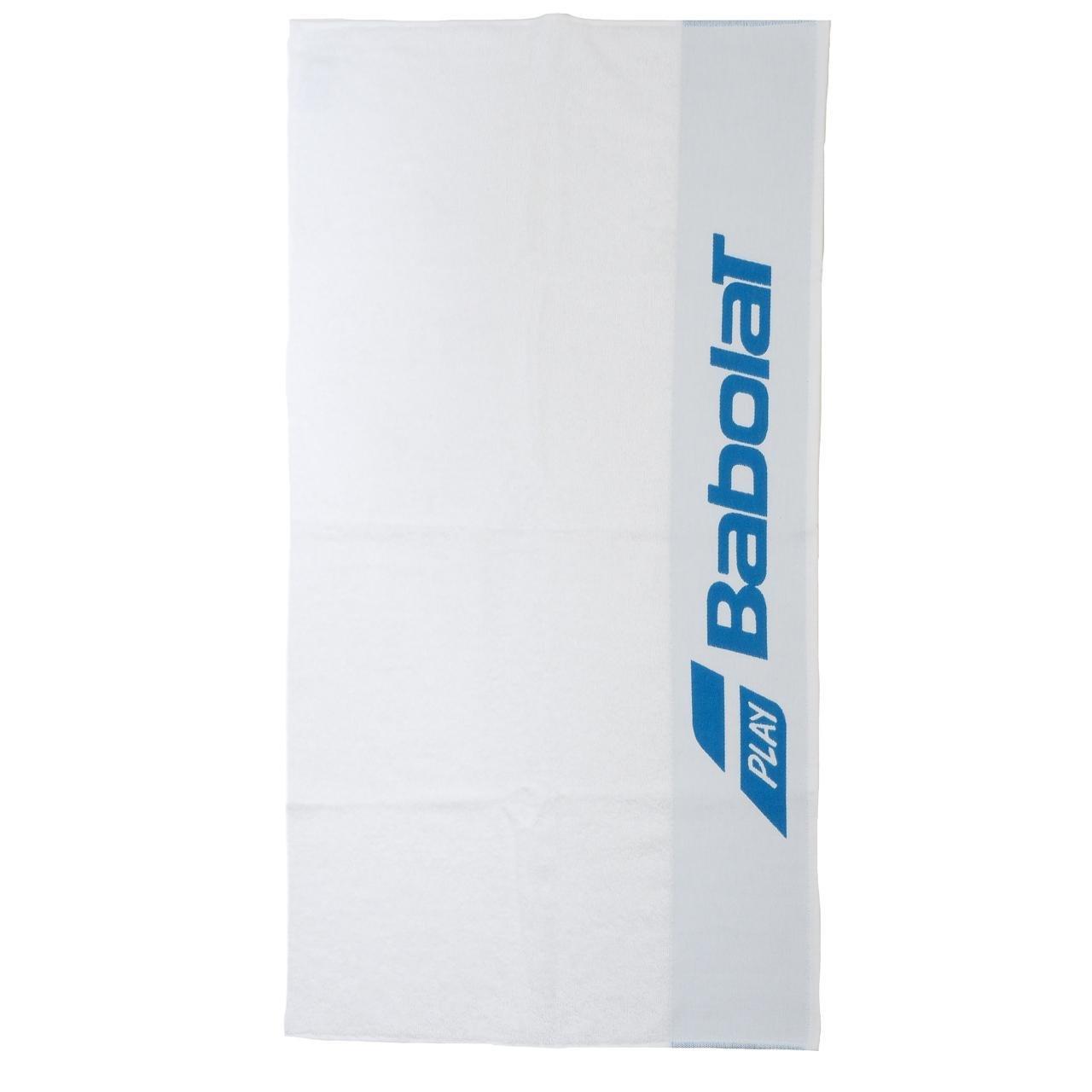 BABOLAT TOWEL TELO TENNIS IN SPUGNA Dimensioni 1mx50cm (BIANCO / AZZURRO) 860155bl