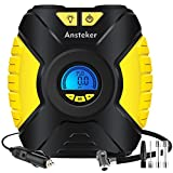 Air Compressor, Portable Cordless Tire Inflator for Car, 2000mAh 100PSI Hand Held Tire Pump with Digital Pressure Gauge, Built in LED Light (Portable air compressor)