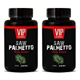 VIP VITAMINS Natural prostate health - SAW PALMETTO BERRY EXTRACT 160 MG - Saw palmetto extract supplements - 2 Bottles 120 Softgels