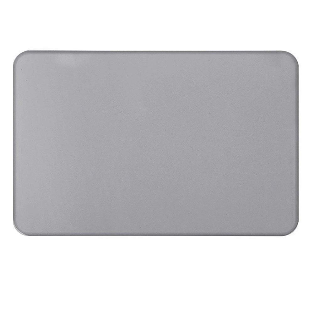 TOMSSL Dark Gray Natural Diatomaceous Earth Bath Mat Absorbent Water Quick-Drying Does Not Fade Furniture Versatile Brushed Surface Mat (Size : 6039)