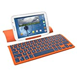 ZAGGkeys Case with Universal Wireless Keyboard for All Bluetooth Smartphones and Tablets - Orange/Indigo